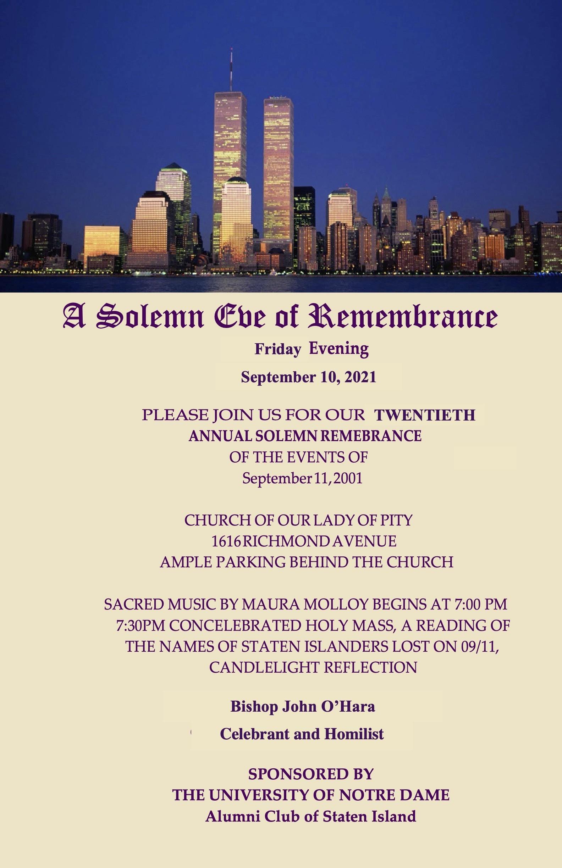 9/11 Mass Poster: September 10, 2021