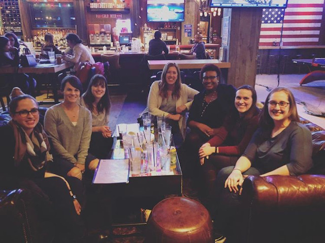 Emily and other Nashville NDWC members enjoy an evening out.