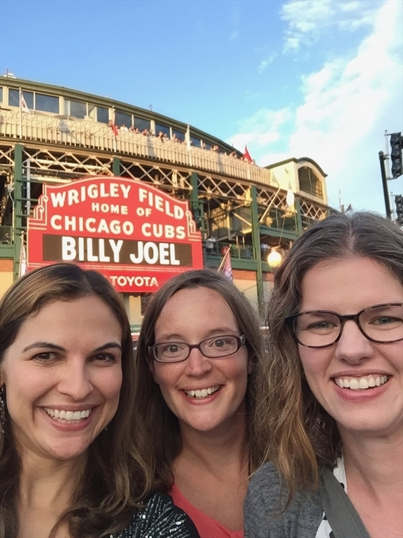 Alexandra and friends at a Billy Joel concert