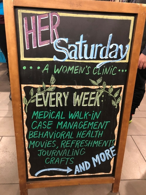 A HER Saturday sign
