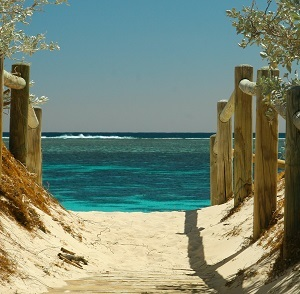 Sandy path to ocean